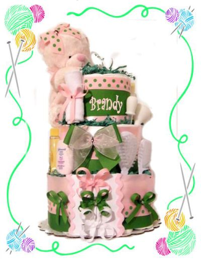 Sorority Girl Diaper Cake