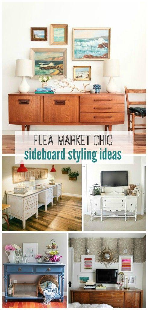Flea Market Chic: Sideboard Styling Ideas