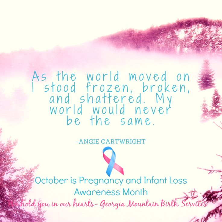 A woman's feelings after a miscarriage. October is Pregnancy and Infant Loss Awareness Month. #BreakTheSilence #baby #women