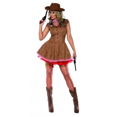 Womens Cowgirl Fancy Dress Costume and Neck Scarf