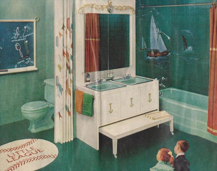 88 best images about 1956 bathroom on pinterest 1950s for Bathroom ideas 1950s