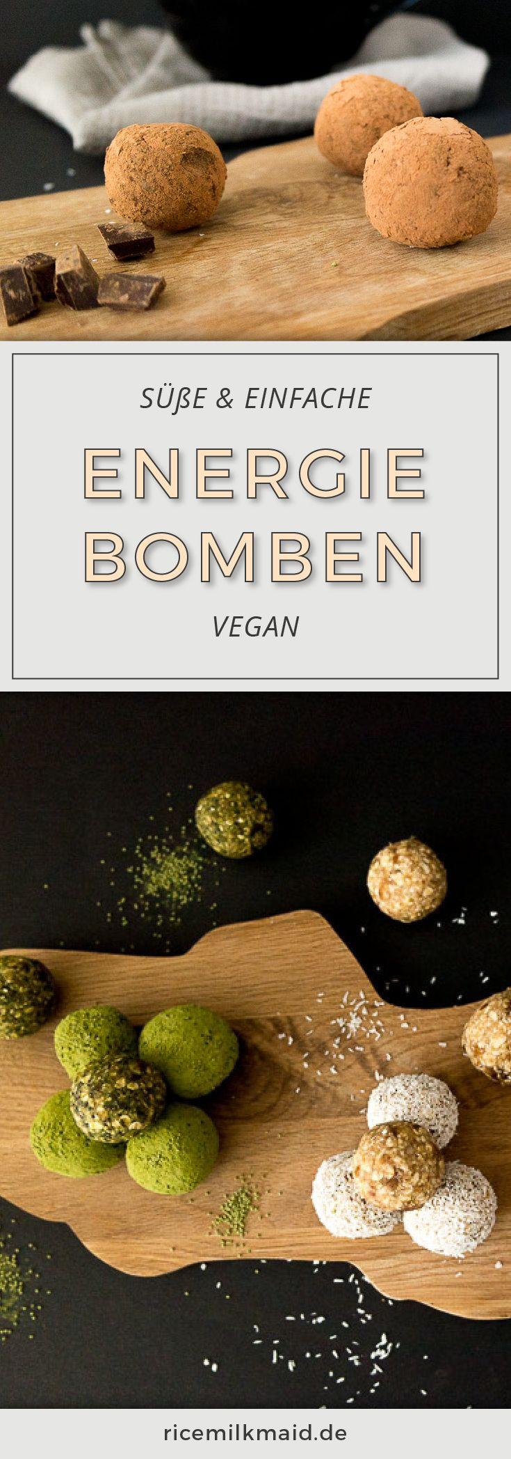Vegane und süße Energiebomben, die man easypeasy zusammenmischen kann. Einfach zum Grundteig deinen Lieblingsgeschmack beimischen. Auch super als Muttertagsgeschenk. Klick dich gleich zum Rezept!