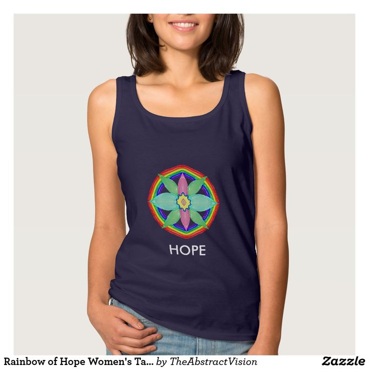 Rainbow of Hope Women's Tank Top.