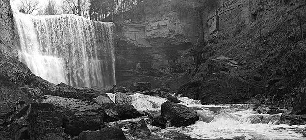 Composite photograph, Webster's Falls, Greensville above Dundas, ON