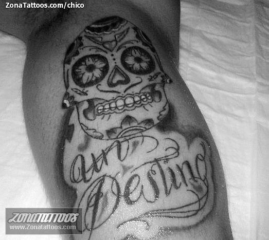 Tatuaje de calaveras letras sugar skull