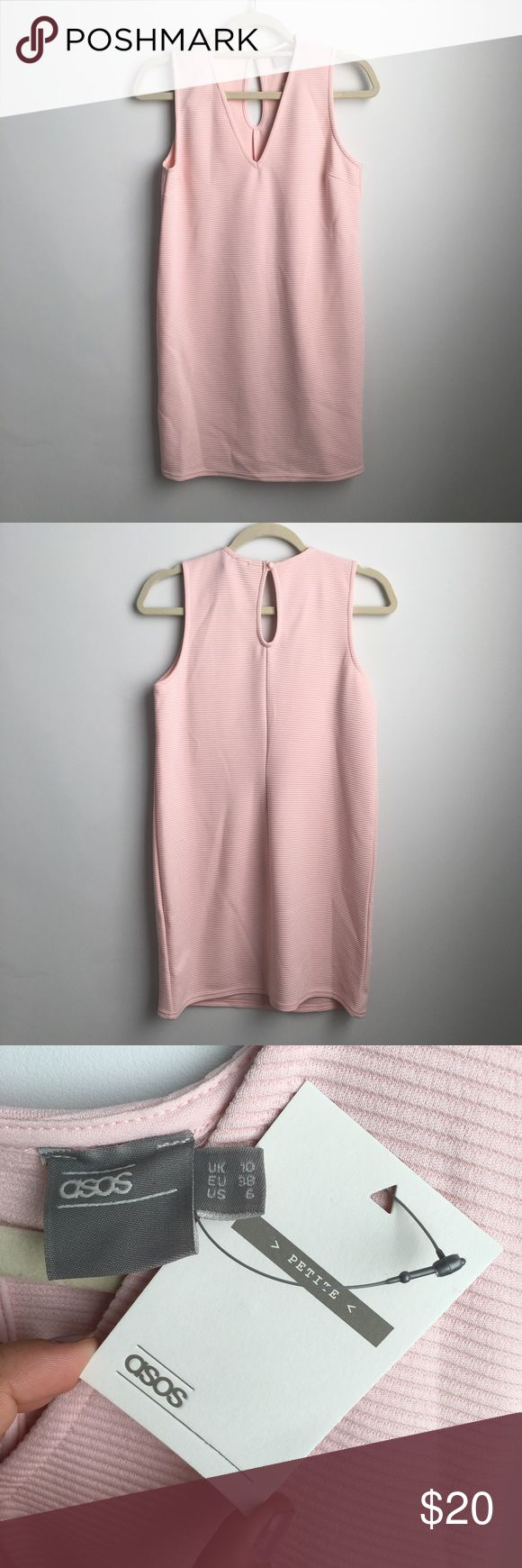 ASOS Petite Light Pink Dress ASOS Petite light pink dress NEVER WORN! Perfect condition! Cute mini dress that you can dress up or down! ASOS Petite Dresses Mini