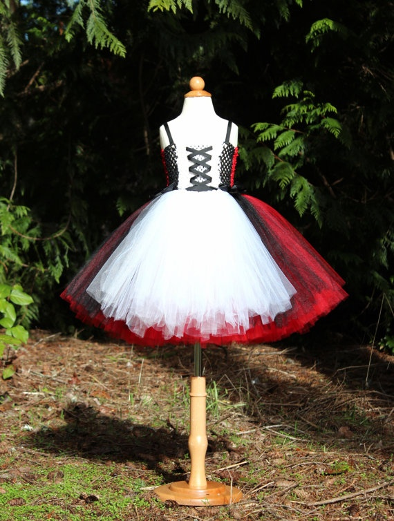 Little Red Tutu Dress Red Riding Hood by DaintyBugsBoutique, $85.00