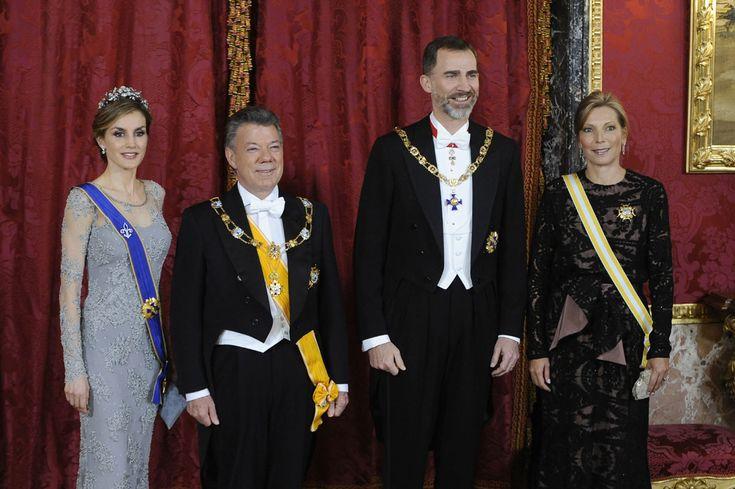 Cena de gala en el Palacio Real en honor al Presidente de Colombia #realeza