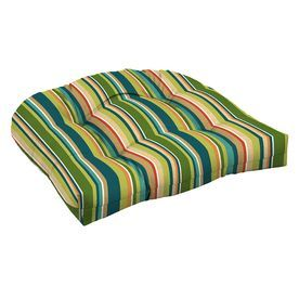 Garden Treasures Bloomery Stripe Seat Pad For High-Back Chair Af12530b