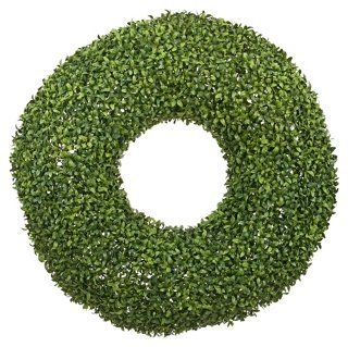 "27"" Boxwood Wreath, Faux"
