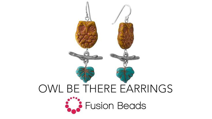 Watch how easy it is to make the Owl Be There Earrings by Fusion Beads