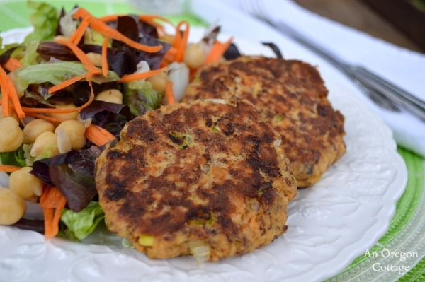 The 'perfect' quick and healthy recipe for salmon patties made with flax seed meal to increase the Omega-3s.