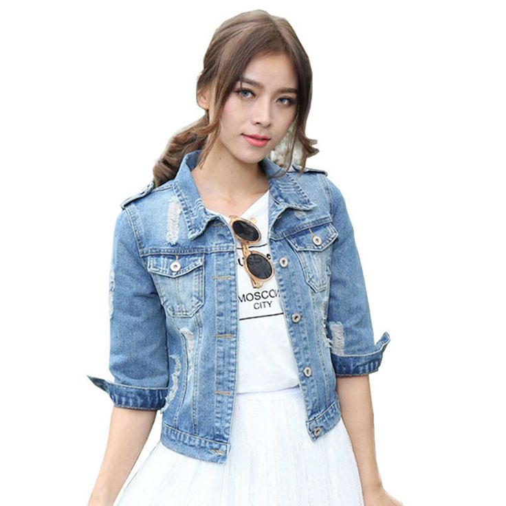 3/4 Short Sleeve Jean Jacket