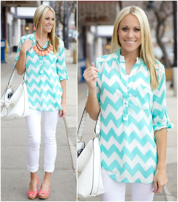 Love this top from @The Nest On Main http://www.shop.thenestonmainstreet.com/Semi-Sheer-Zig-Zag-Shirt-CS3326P31.htm