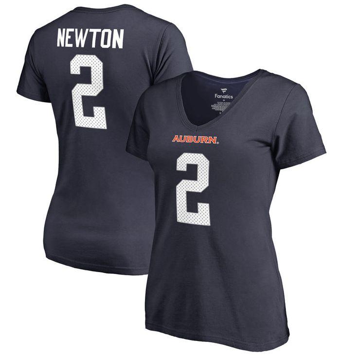 Cam Newton Auburn Tigers Fanatics Branded Women's College Legends T-Shirt - Navy
