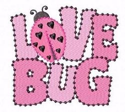 FREE! Love Bug - 5x7 | FREE | Machine Embroidery Designs | SWAKembroidery.com