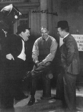Laurel and Hardy with Hal Roach