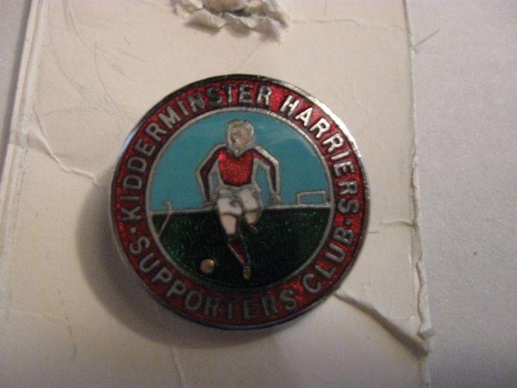 RARE OLD KIDDERMINSTER HARRIERS FOOTBALL SUPPORTERS CLUB ENAMEL BROOCH PIN BADGE  | eBay £150.00 (BIN) +7.00PP