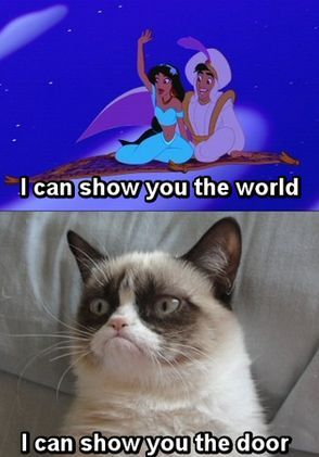 Frown-Faced Fairytale Cats Funny Grumpy Cat Meme, The Doors, Grumpycat, Funny Grumpy Cat Quotes, Cat Jokes, Funny Stuff,...