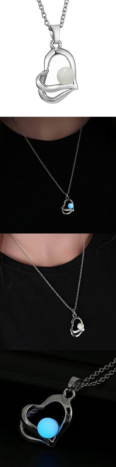 Jewelry 175526: Fm42 Glow In The Dark Ball And Open Heart Pendant Necklace, New -> BUY IT NOW ONLY: $108 on eBay!