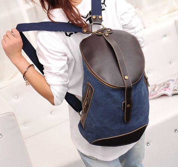 backpackcanvas backpack Cylinder backpack school by onlysucre, $25.00