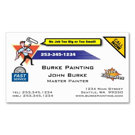 62 best business cards make it yourself images on pinterest painter painting contractor business card reheart Gallery