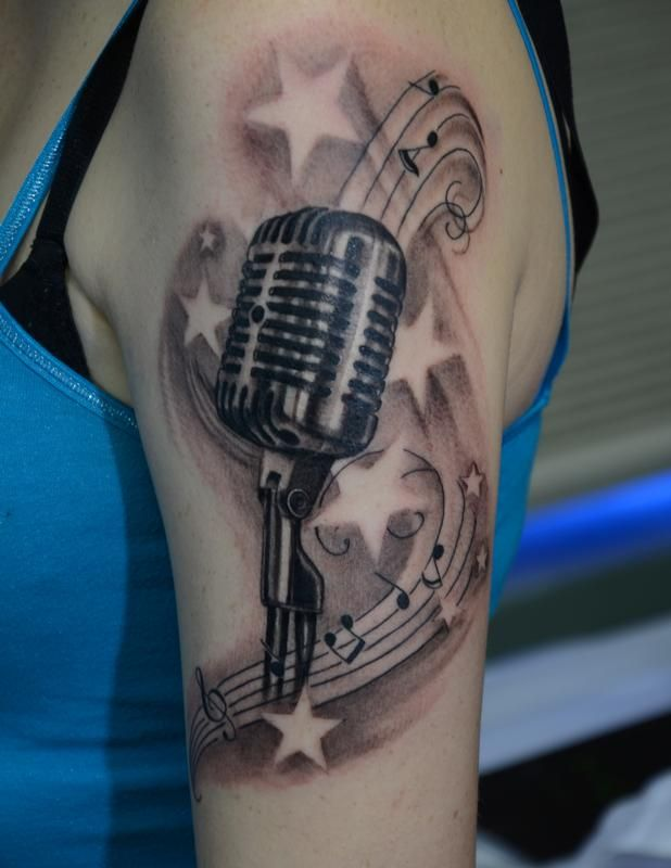 41 best microphone tattoo images on pinterest microphone tattoo rh pinterest com classic microphone tattoo vintage microphone tattoo