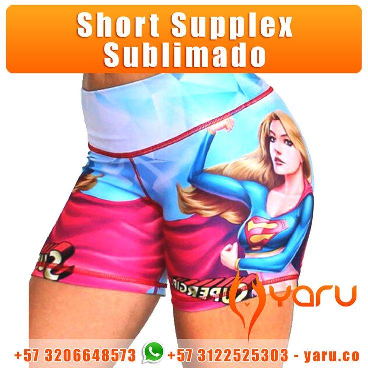 Short Supplex Sublimado es una prenda fabricada en supplex, una tela fresca, resistente y elastica, idela para ir al gym o realizar actividades fisicas. www.Yaru.co YARU Fabrica de Fajas Colombianas y prendas deportivas. Whatsapp: +57312252503
