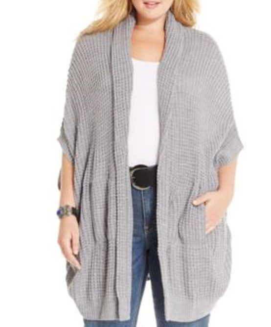 NWT Melissa McCarthy 3x Sweater Seven7 Women's Shawl Cable Knit Cardigan #MelissaMcCarthy #Shawl #everyday