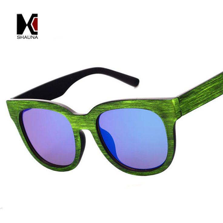 $5.29 (Buy here: https://alitems.com/g/1e8d114494ebda23ff8b16525dc3e8/?i=5&ulp=https%3A%2F%2Fwww.aliexpress.com%2Fitem%2F2015-Fashion-women-Sunglasses-men-metal-temple-female-goggle-round-Sun-glasses-oculos-de-sol-lentes%2F32365682304.html ) SHAUNA Fashion Wood Grain Frame Men Square Sunglasses Brand Designer Retro Oversize Women Flat Mirror Coating Lens Shade UV400 for just $5.29