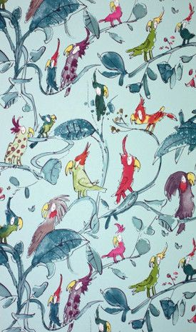 #behang #wallpaper   Osborne & Little via JUST KIDS WALLPAPER™