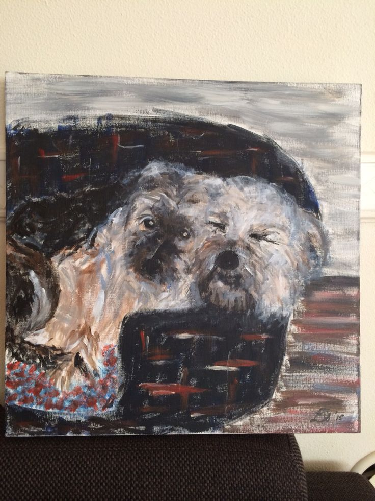 Dogs of my sister-in-law. Made it as a gift for her birthday
