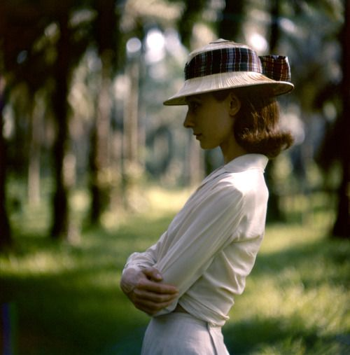 "poboh: "" Audrey Hepburn during the filming of The Nun's Story, 1958,  Leo Fuchs.  (1911 - 1994) """