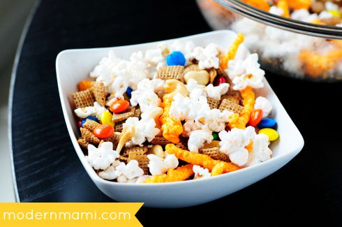 Easy Kids' Snack Mix Recipe, perfect for game day snacking!