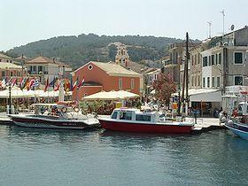 Le port de Gaios à Paxos
