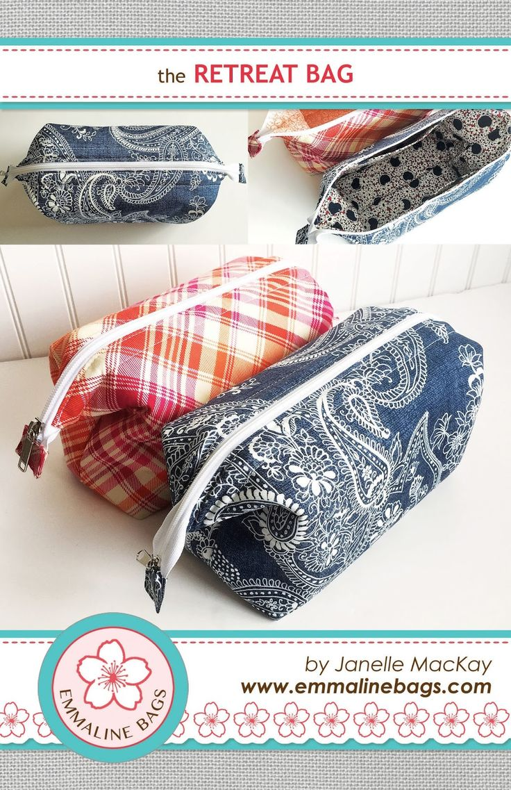 The Retreat Bag - A FREE Sewing Tutorial - Emmaline Bags: Sewing Patterns and Purse Supplies