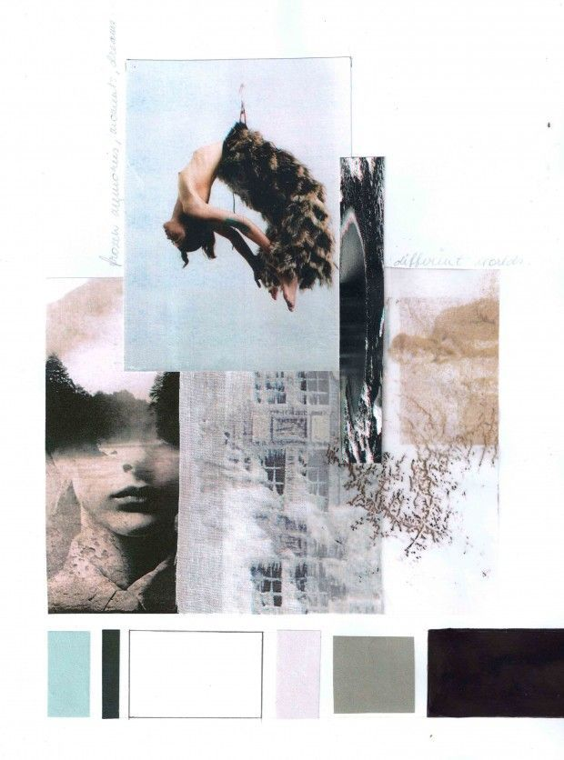A gorgeous seemingly digital mood board for a collection.  MIRJAM MAEOTS Colourboard