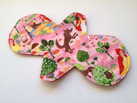 CURVY 10 Reusable mama cloth pad/ MODERATE/Little Red by MamaKloth, $10.95