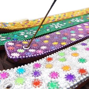 Indian mosaic incense holder