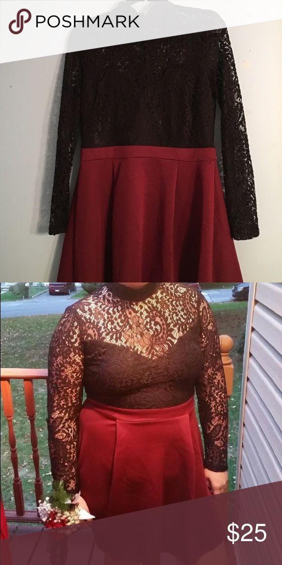 B darlin red dress 6p