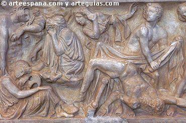 """Precisamente, la escultura romana destacó sobre la griega en lo relativo a la creación de la escultura-retrato. Y es que el retrato romano hunde sus raíces en el arte etrusco, aunque también en el mundo helenístico griego y en las """"máscaras mayorum"""", es decir, máscaras de cera que se aplicaban al rostro de los difuntos para su recuerdo y culto posterior"""