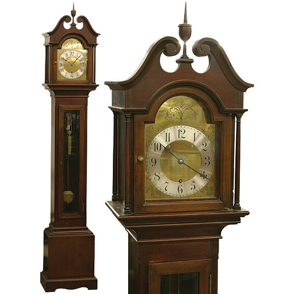 Antique Year Fusee Grandmother Clock Bailey Banks And