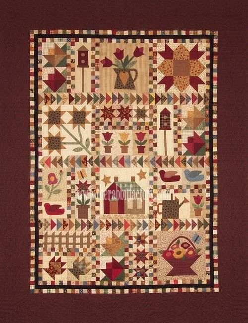 Cottage Garden Sampler.made several years ago, given to lois