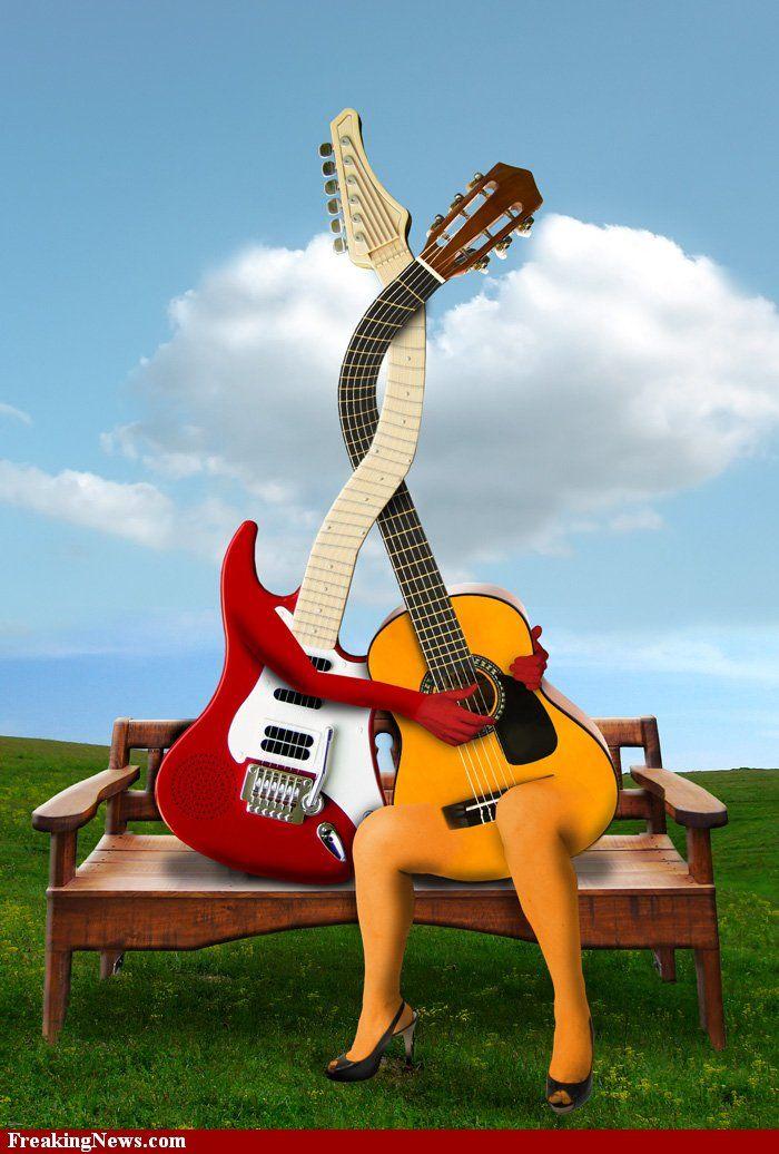 Картинка гитара смешная, дали