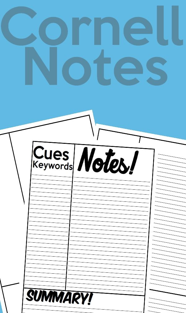92 best study help images on Pinterest Note taking, School tips - cornell note taking template