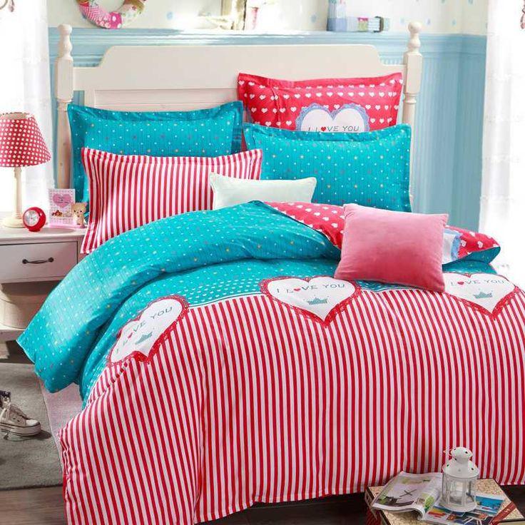 cute-beding-set-font-b-kids-b-font-red-love-story-for-girls-queen-size-4.jpg (800×800)