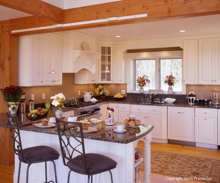 White Kitchen Cabinets And Countertops: This Custom Kitchen Features Beautiful White Cabinets And