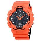Casio G-Shock Mens Orange Resin Multifunction Watch GA100L-4A
