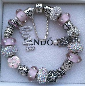 Authentic Pandora Bracelet With Guardian Angel Charm
