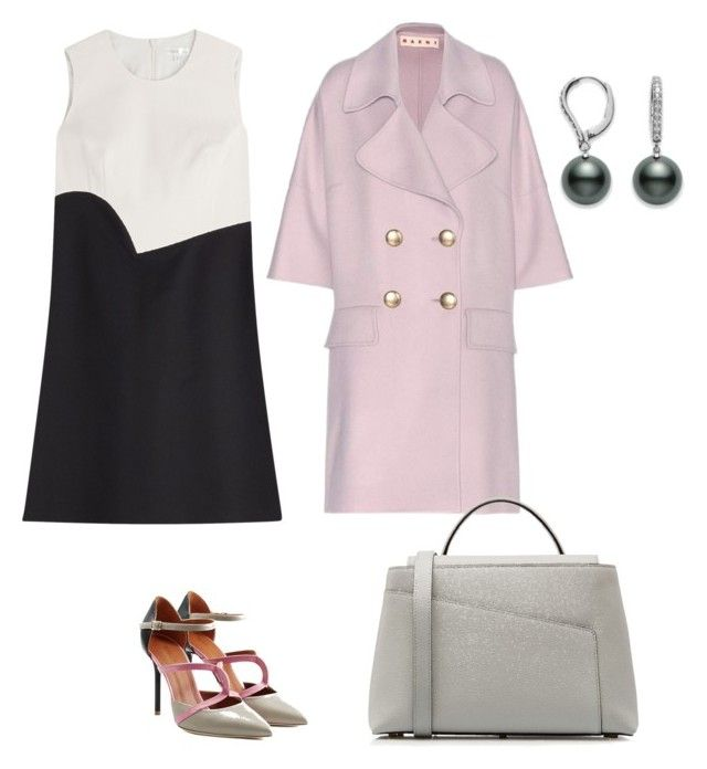 Spring work outfit by the925editor on Polyvore featuring Paule Ka, Marni, Malone Souliers and Valextra